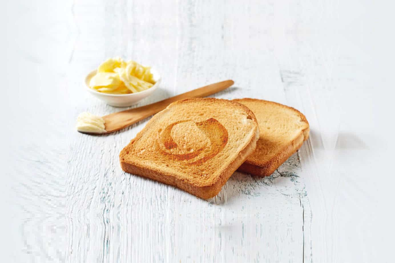 a design agency image of toast branded with the brand magic logo