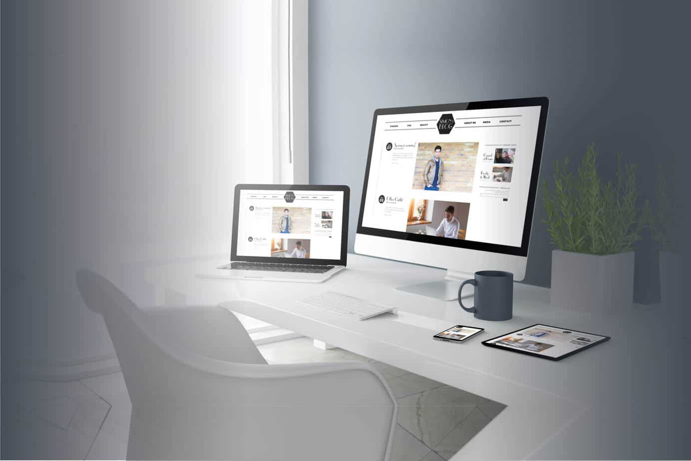 A Design agency image of responsive web design on various devices